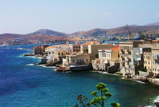 Tour to Ano Syros-southern villages of Syros -Vaporia- museum of Cycladic art