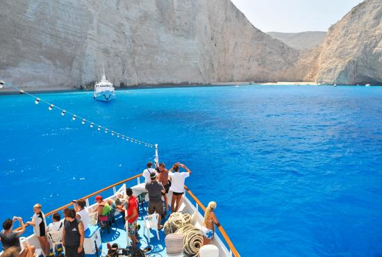 Zakynthos - Tour to Blue Caves,Navagio[shipwreck],Agia Mavra Church,Bochali