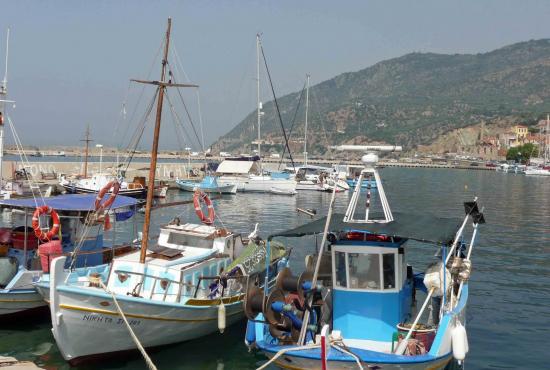 Tour to Taxiarches Church Terriade museum & Agiasos village