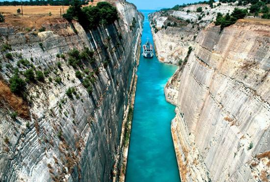 Tour from Piraeus to Ancient Corinth Corinth Canal Crossing by