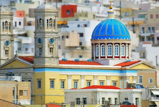 Syros tour- Kimisi Theotokou Church- Cycladic Art Museum -Arc. museum