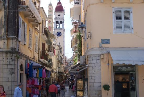 Corfu old city, St Spyridon church