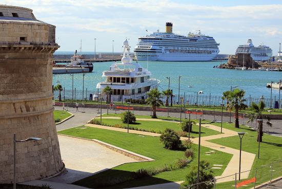 Civitavecchia port view
