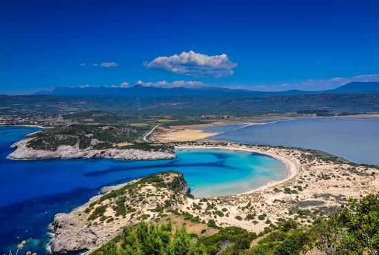 Top 15 Beaches in Greece 2016: Voidokoilia Beach, Messinia, Peloponnese